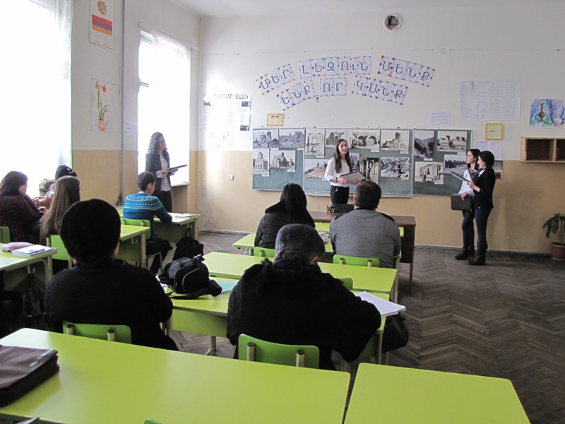 STUDENTS PRESENTED WESTERN ARMENIAN MONUMENTS
