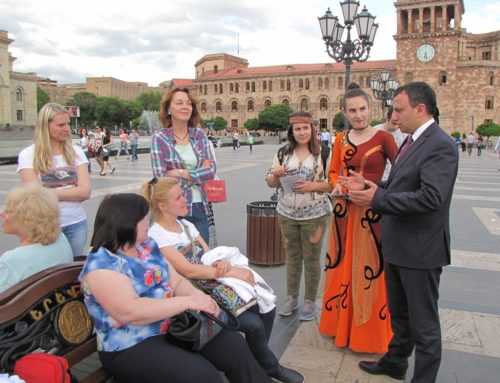 THE DIRECTOR AND STAFF OF NCSO TOLD TOURISTS ABOUT MONUMENTS AND SHARED FLYERS