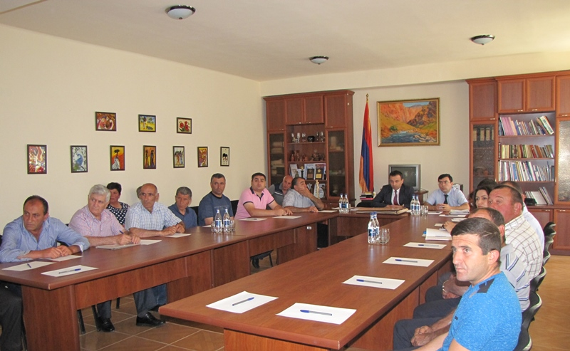 WORKING  CONSULTATION  IN  VAYOTS DZOR  REGION. NCSO ADOPTS A  NEW WORKING  PRINCIPLE