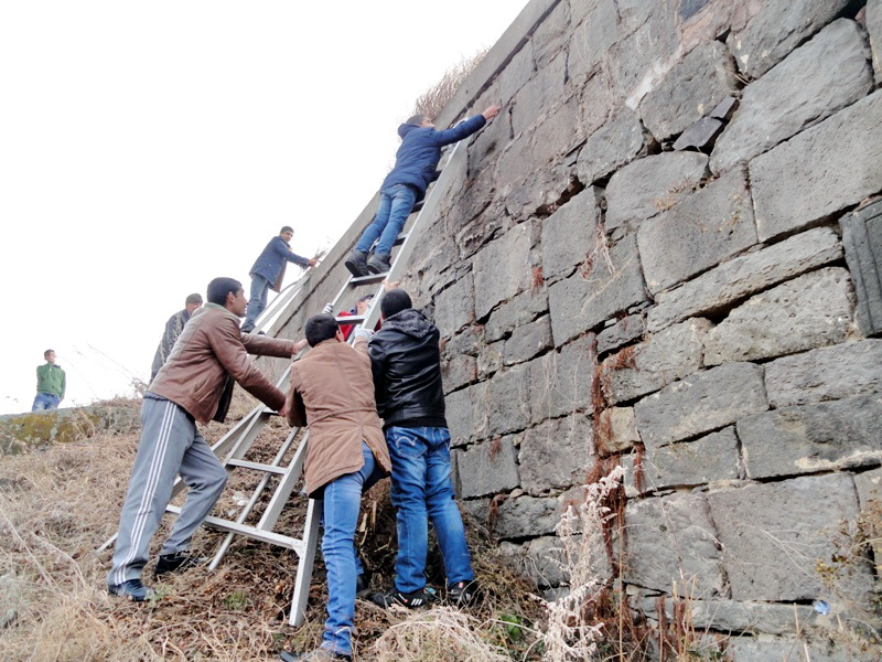 THE MONUMENTS OF VAYOC DZOR HAVE BEEN CLEANED FROM VEGETATION