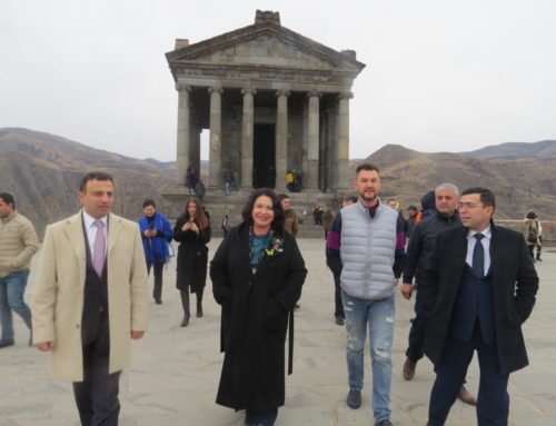 NADEJDA BABKINA WAS IMPRESSED BY THE MAGNIFICENCE OF GARNI TEMPLE
