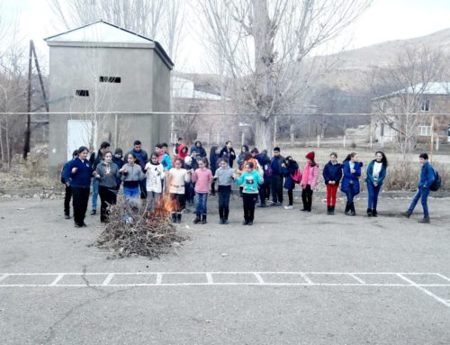 THE FLAME OF TYARNYNDARAJ WAS LIT IN THE YARD OF  VERNASHEN'S SECONDARY SCHOOL