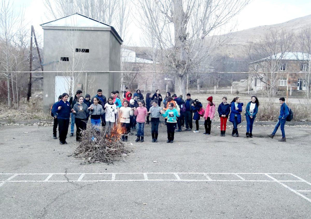 THE FLAME OF TYARNYNDARAJ WAS LIT IN THE YARD OF VERNASHEN'S SECONDARY SCHOOL