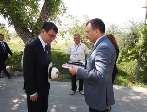 "JAPAN'S MINISTER OF FOREIGN AFFAIRS WAS GIFTED THE ALBUM OF JUGHA'S CULTURAL GENOCIDE IN ""GARNI"""