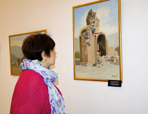 "THE PHOTOS AND PAINTINGS OF GUROS WERE EXHIBITED IN ""ZVARTNOTS"" MUSEUM-RESERVE"