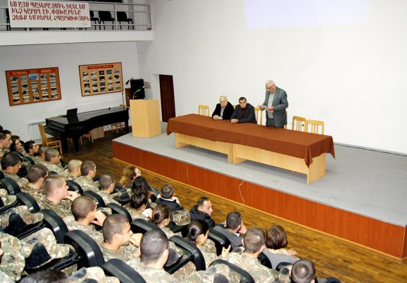 EVENT DEDICATED TO THE MONUMENTS AND ARMENIA'S ARCHAEOLOGICAL ACHIEVEMENTS IN THE MILITARY UNIVERSITY AFTER VAZGEN SARGSYAN
